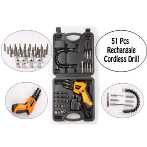 51 Pcs Rechargeable Cordless Drill